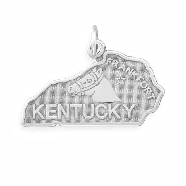 Kentucky State Sterling Silver Charm - deelytes-com