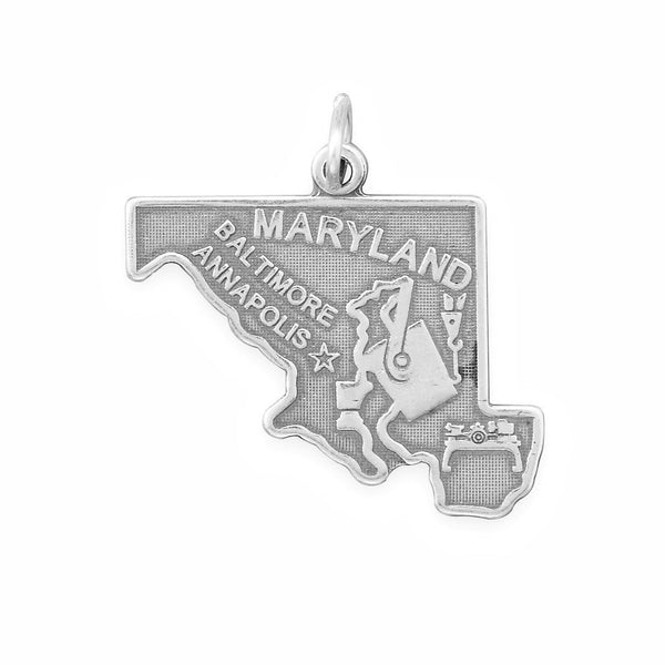 Maryland State Sterling Silver Charm - deelytes-com