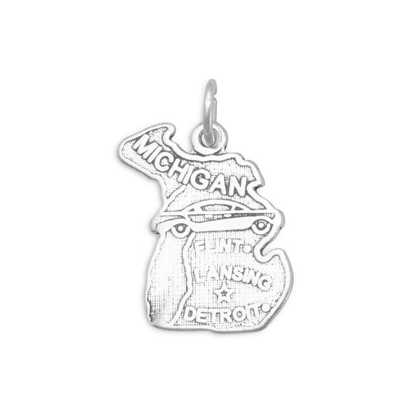 Michigan State Sterling Silver Charm - deelytes-com