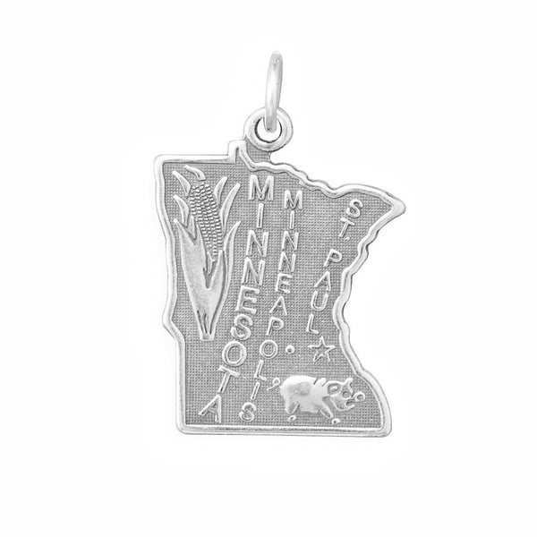 Minnesota State Sterling Silver Charm - deelytes-com