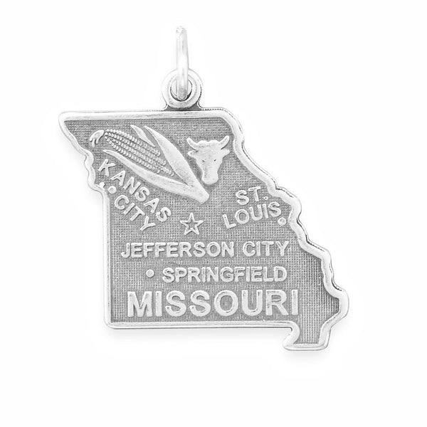 Missouri State Sterling Silver Charm - deelytes-com
