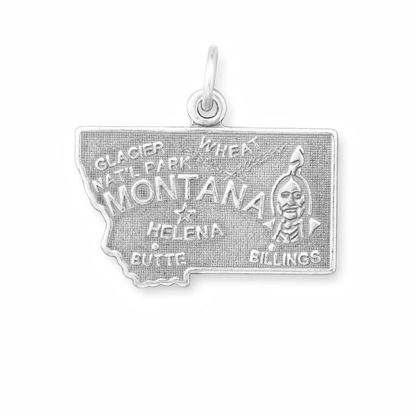 Montana State Sterling Silver Charm - deelytes-com