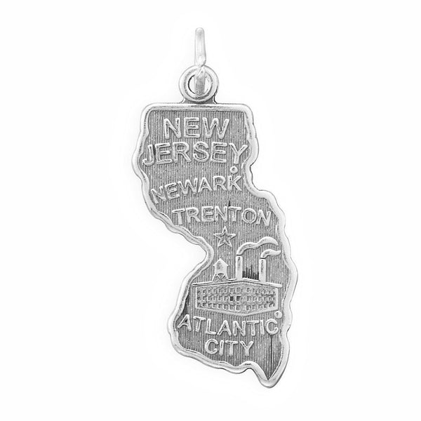 New Jersey State Sterling Silver Charm - deelytes-com