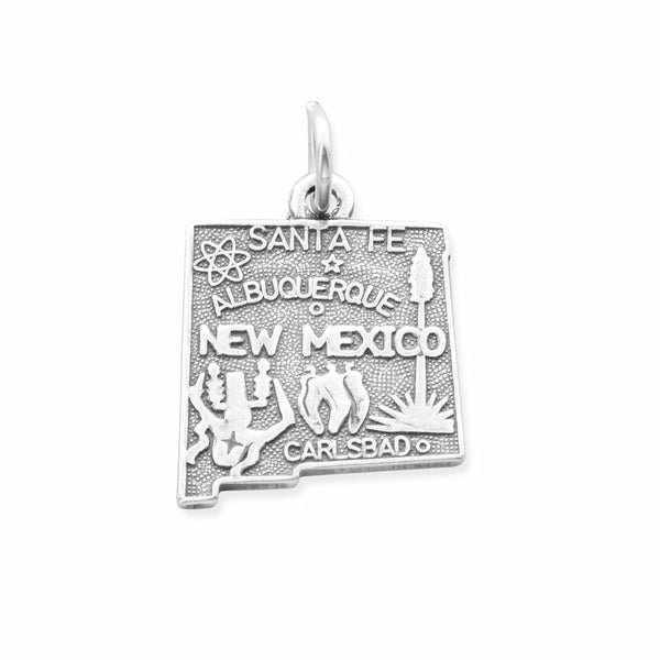 New Mexico State Sterling Silver Charm - deelytes-com