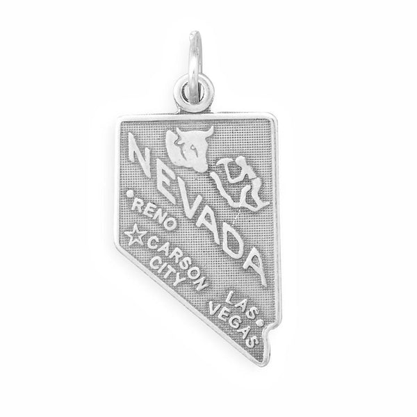 Nevada State Sterling Silver Charm - deelytes-com