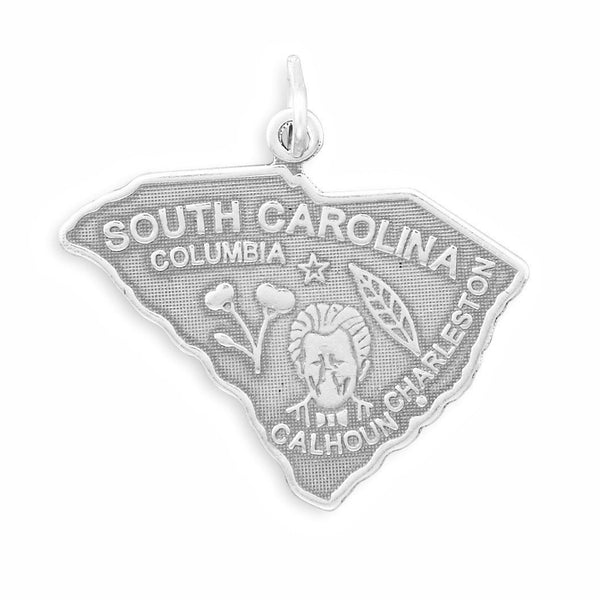 South Carolina State Sterling Silver Charm - deelytes-com