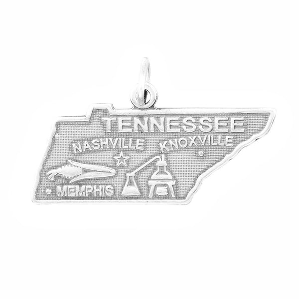 Tennessee State Sterling Silver Charm - deelytes-com