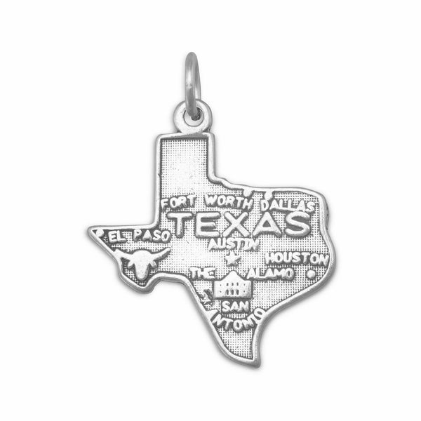 Texas State Sterling Silver Charm - deelytes-com