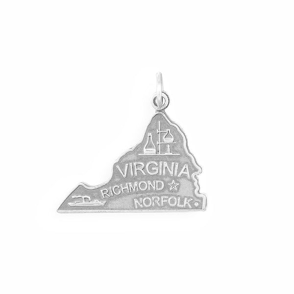 Virginia State Sterling Silver Charm - deelytes-com