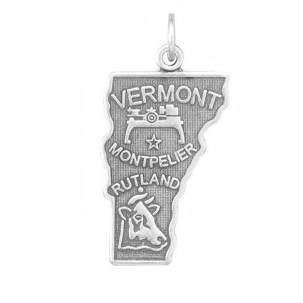 Vermont State Sterling Silver Charm - deelytes-com