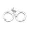 Pair of Handcuffs Charm 925 Sterling Silver - deelytes-com