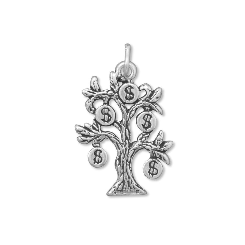 Money Tree Sterling Silver  Charm - deelytes-com