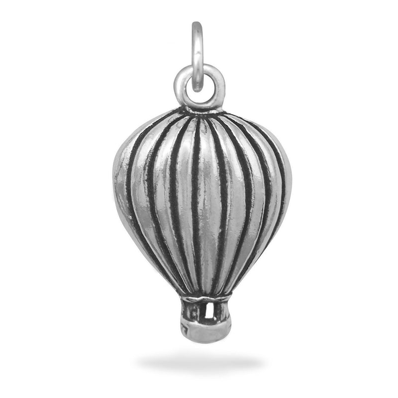 Hot Air Balloon Sterling Silver Charm - deelytes-com