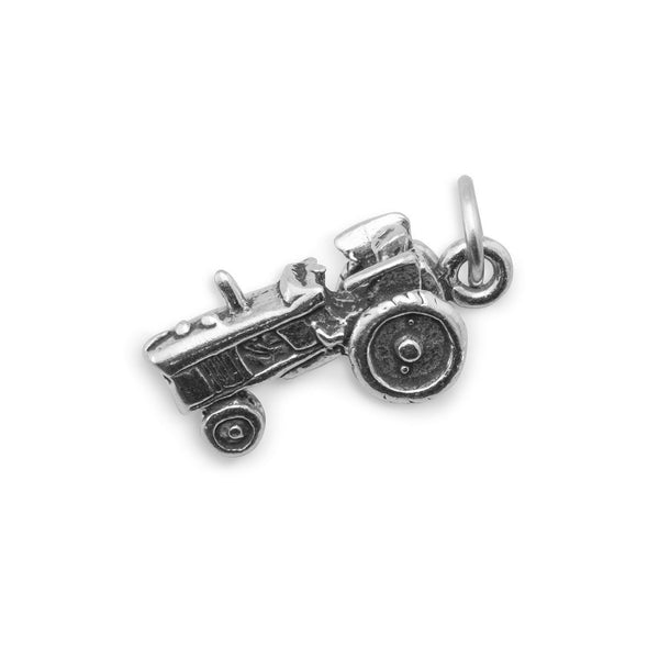 Tractor Sterling Silver Charm - deelytes-com