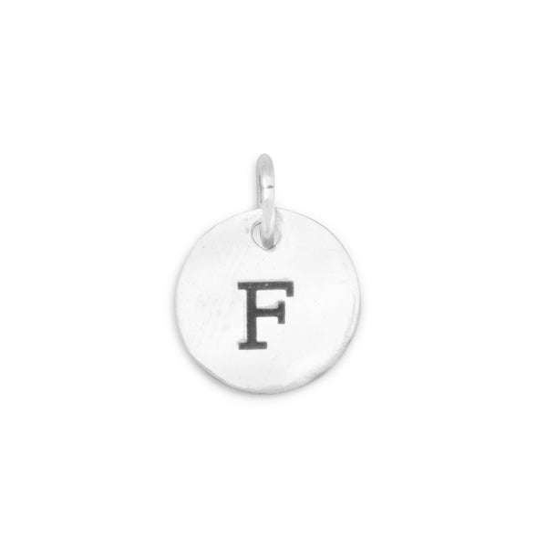 "Initial ""F"" Charm 925 Sterling Silver - deelytes-com"