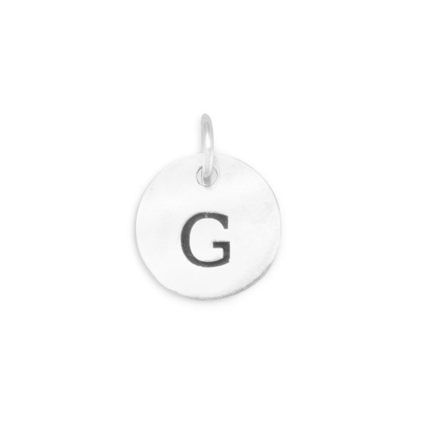 "Initial ""G"" Charm 925 Sterling Silver - deelytes-com"