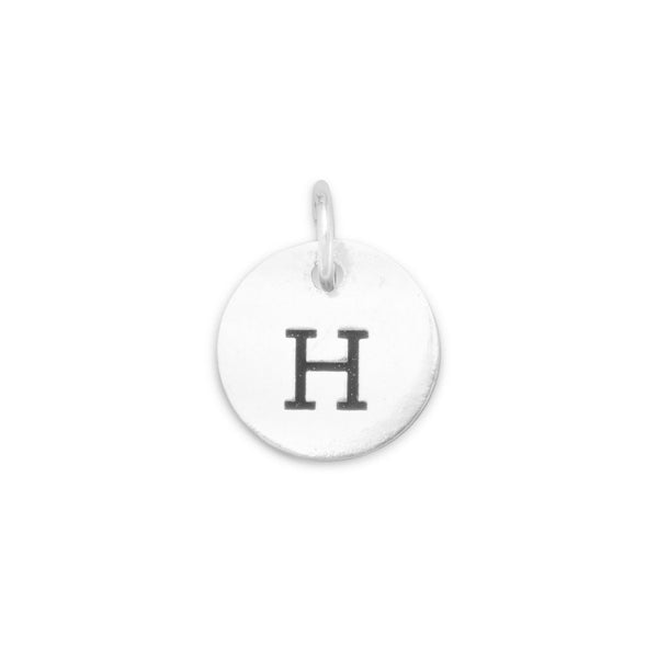 "Initial ""H"" Charm 925 Sterling Silver - deelytes-com"