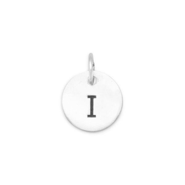 "Initial ""I"" Charm 925 Sterling Silver - deelytes-com"