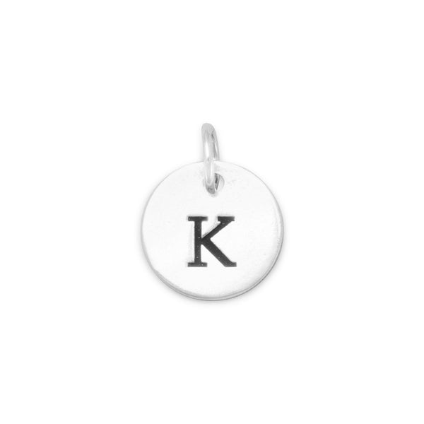 "Initial ""K"" Charm 925 Sterling Silver - deelytes-com"