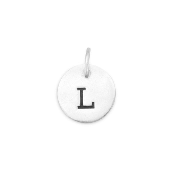 "Initial ""L"" Charm 925 Sterling Silver - deelytes-com"