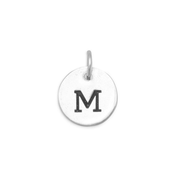 "Initial ""M"" Charm 925 Sterling Silver - deelytes-com"