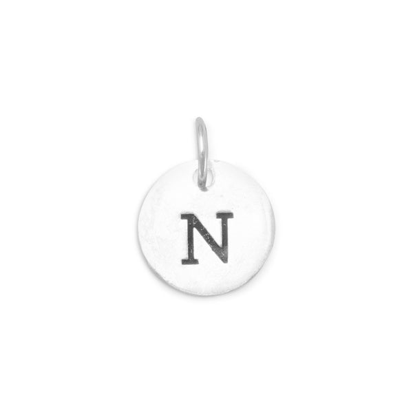 "Initial ""N"" Charm 925 Sterling Silver - deelytes-com"