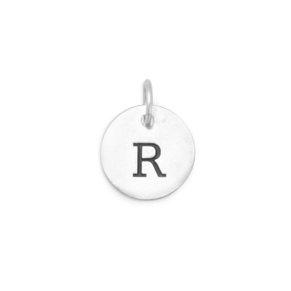 "Initial ""R"" Charm 925 Sterling Silver - deelytes-com"