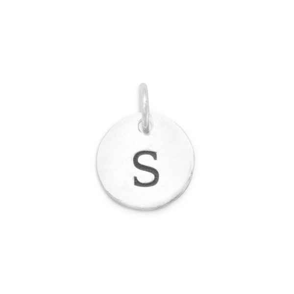 "Initial ""S"" Charm 925 Sterling Silver - deelytes-com"