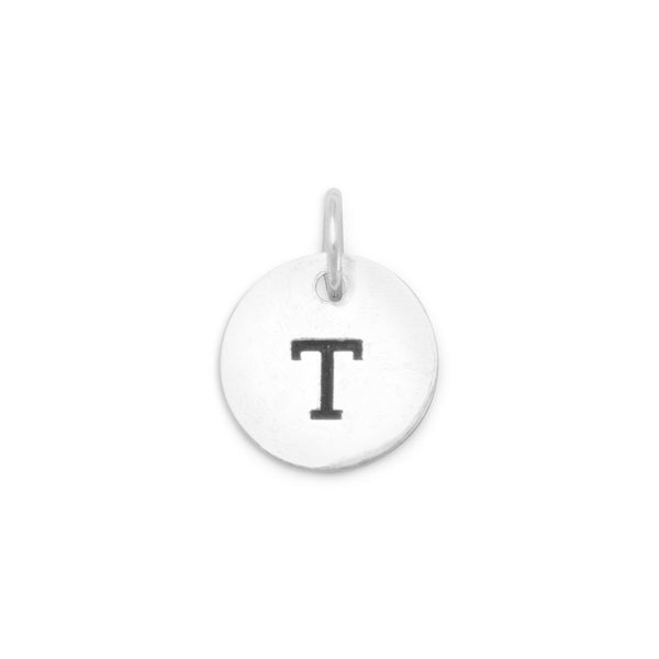 "Initial ""T"" Charm 925 Sterling Silver - deelytes-com"