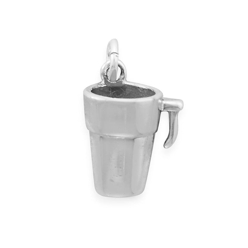To Go Coffee Mug Sterling Silver Charm - deelytes-com