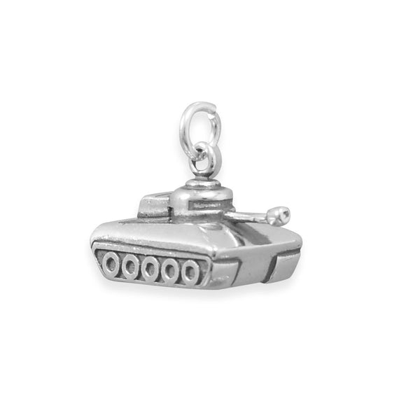 Military Tank Sterling Silver  Charm - deelytes-com