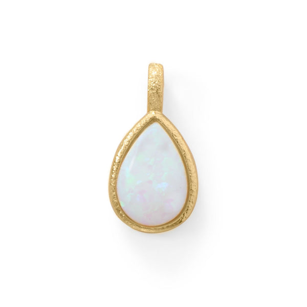 Pear Shaped Opal Gold Pendant - deelytes-com