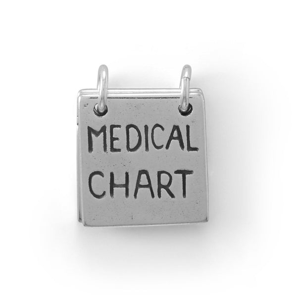 Take a Peak! Movable Medical Chart Charm - deelytes-com
