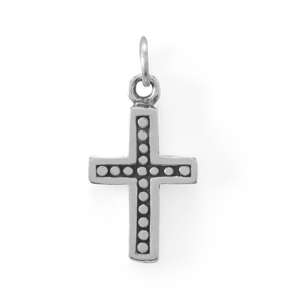 Sterling Silver Oxidized Cross Charm - deelytes-com