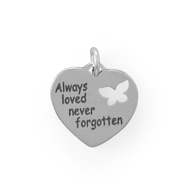 """Always loved, never forgotten"" Charm - deelytes-com"