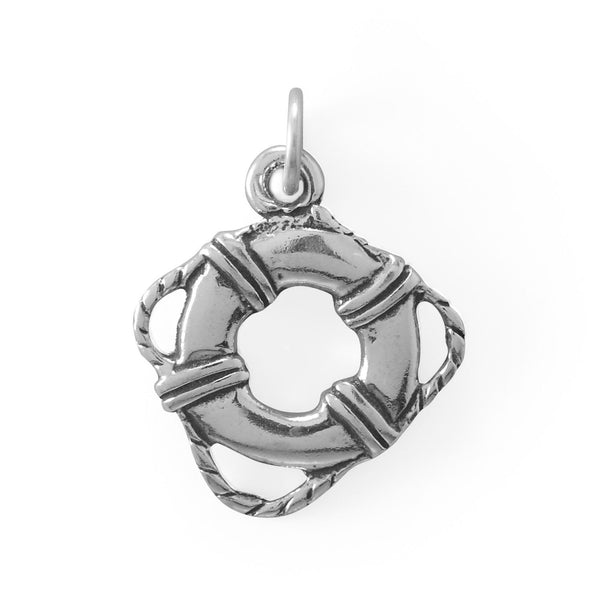 Life Buoy Charm Sterling Silver - deelytes-com