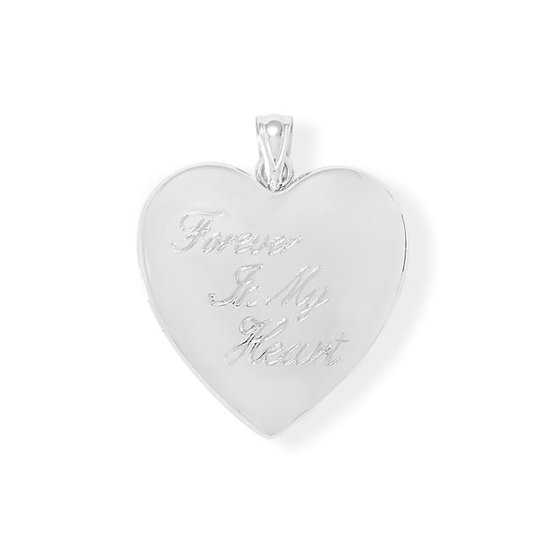 Engraved Forever In My Heart Locket Keepsake Photo and Memory Keeper - deelytes-com