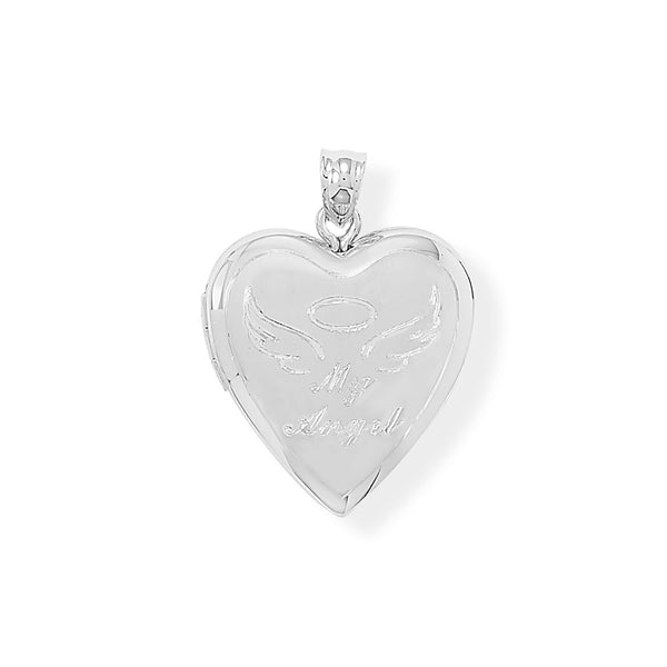 My Angel Heart Locket Keepsake Photo and Memory Keeper - deelytes-com