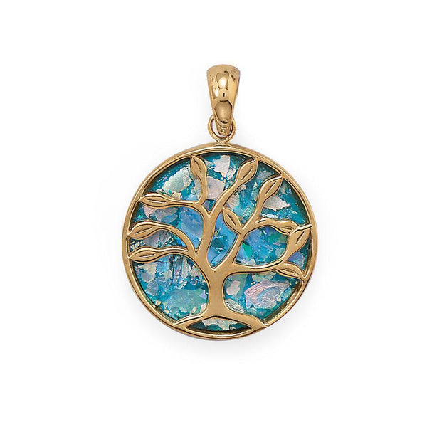 Growth and Renewal Tree of Life Roman Glass Pendant - deelytes-com