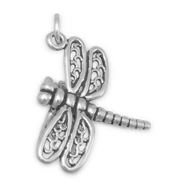 Dragonfly Charm Sterling Silver - deelytes-com