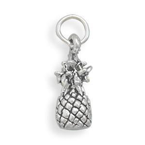 Pineapple Sterling Silver Charm - deelytes-com