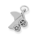 Small Baby Carriage Charm 925 Sterling Silver - deelytes-com