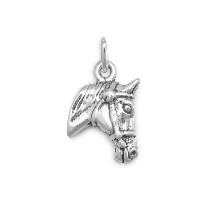 Horse Profile Sterling Silver Charm - deelytes-com