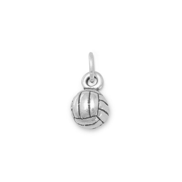 Small Volleyball Sterling Silver Charm - deelytes-com