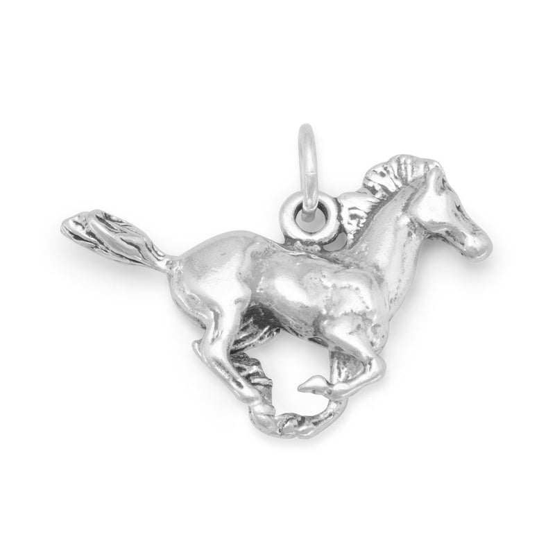Running Horse Charm 925 Sterling Silver - deelytes-com