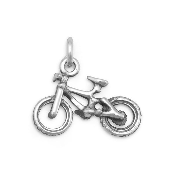 Bicycle Charm Sterling Silver - deelytes-com
