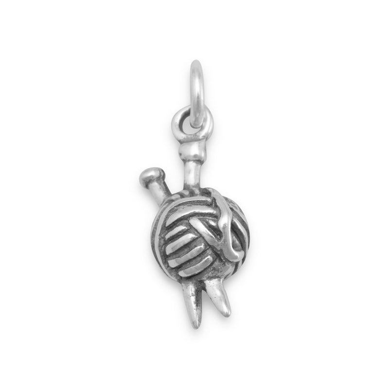 Ball of Yarn Charm Sterling Silver - deelytes-com