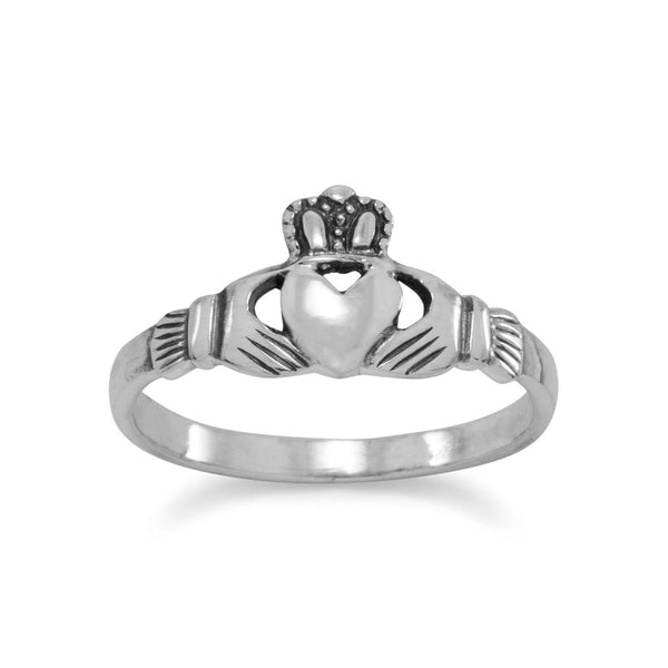 Sterling Silver Small Claddagh Ring - deelytes-com