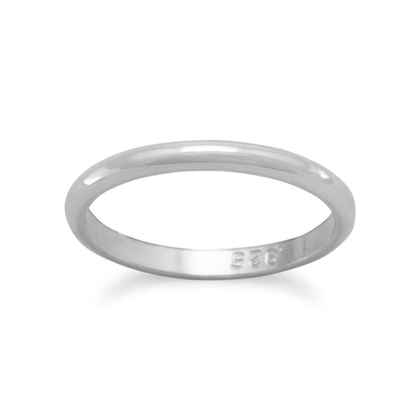 Sterling Silver Plain Band Ring - deelytes-com