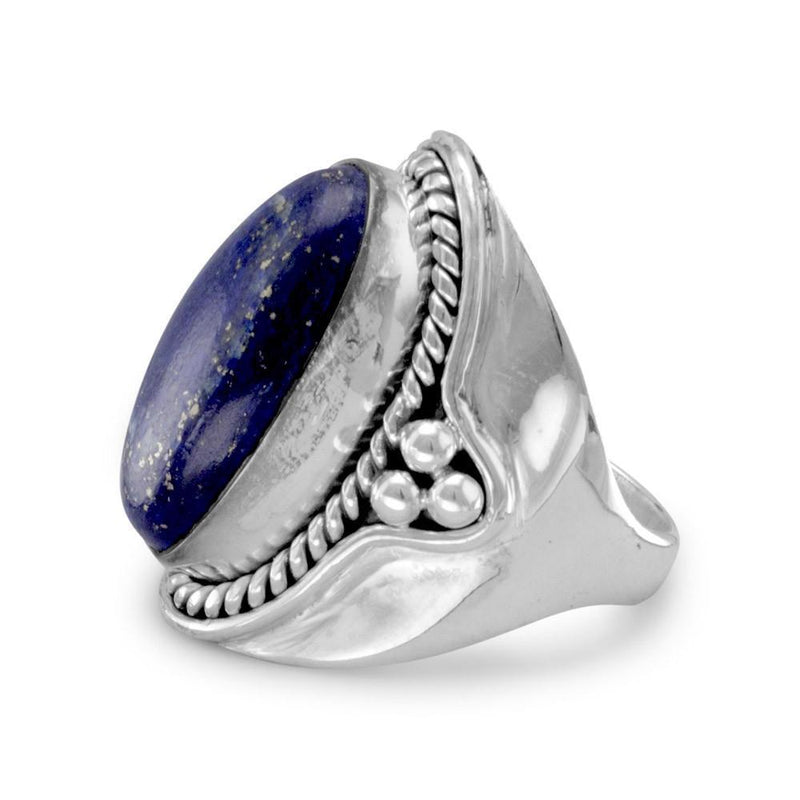 Lapis Gemstone Sterling Silver Ring - deelytes-com